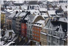 Schnee in der Metropole Köln!
