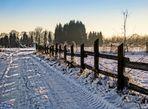 Schnee in unserer Ried