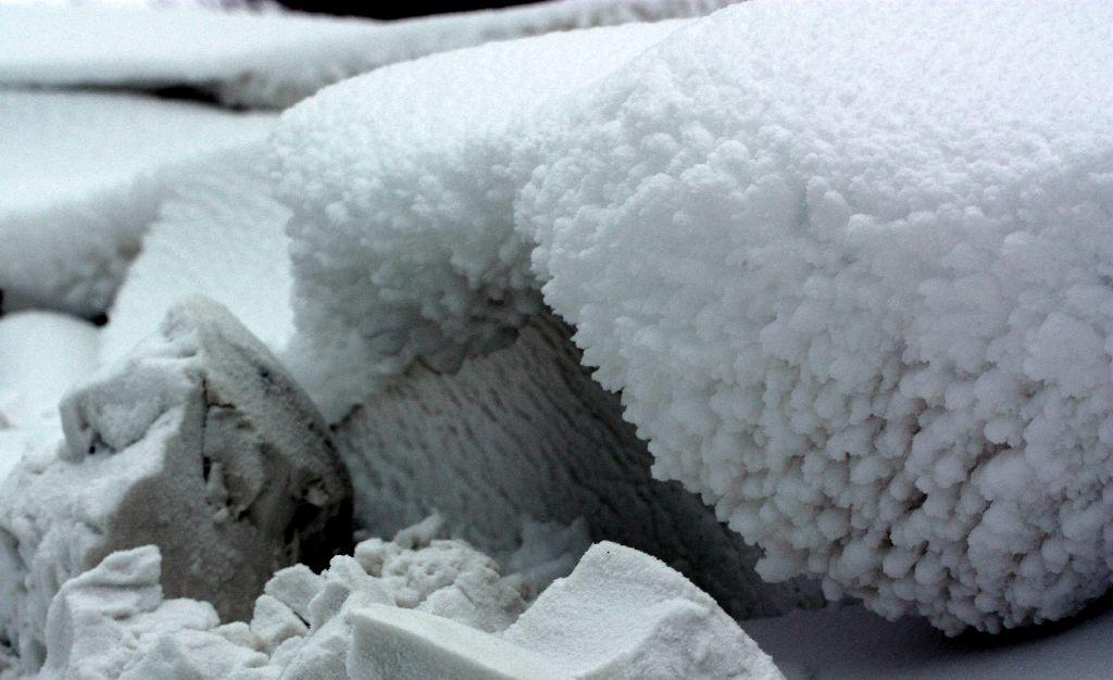 Schnee mauer