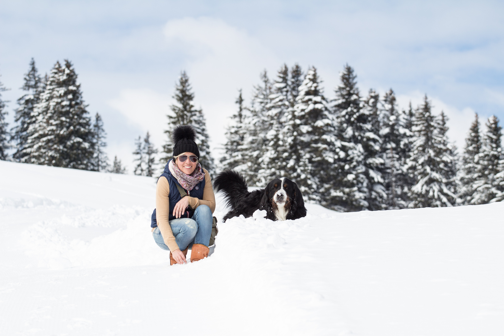 Schnee Pose