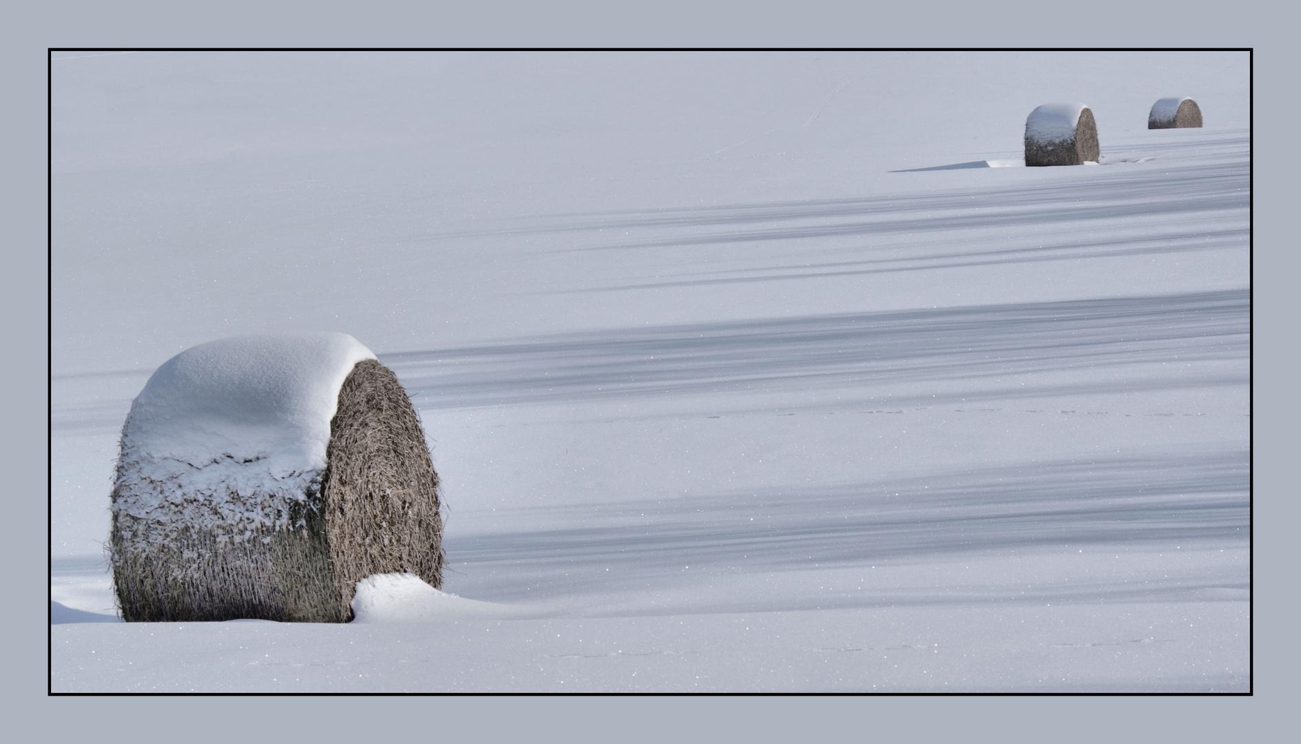 Schnee-Strohrollen 2