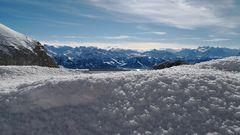 Schnee und Berge