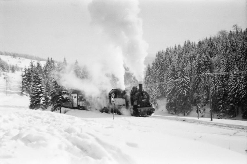 Schnee und Dampf am Rennsteig 1978