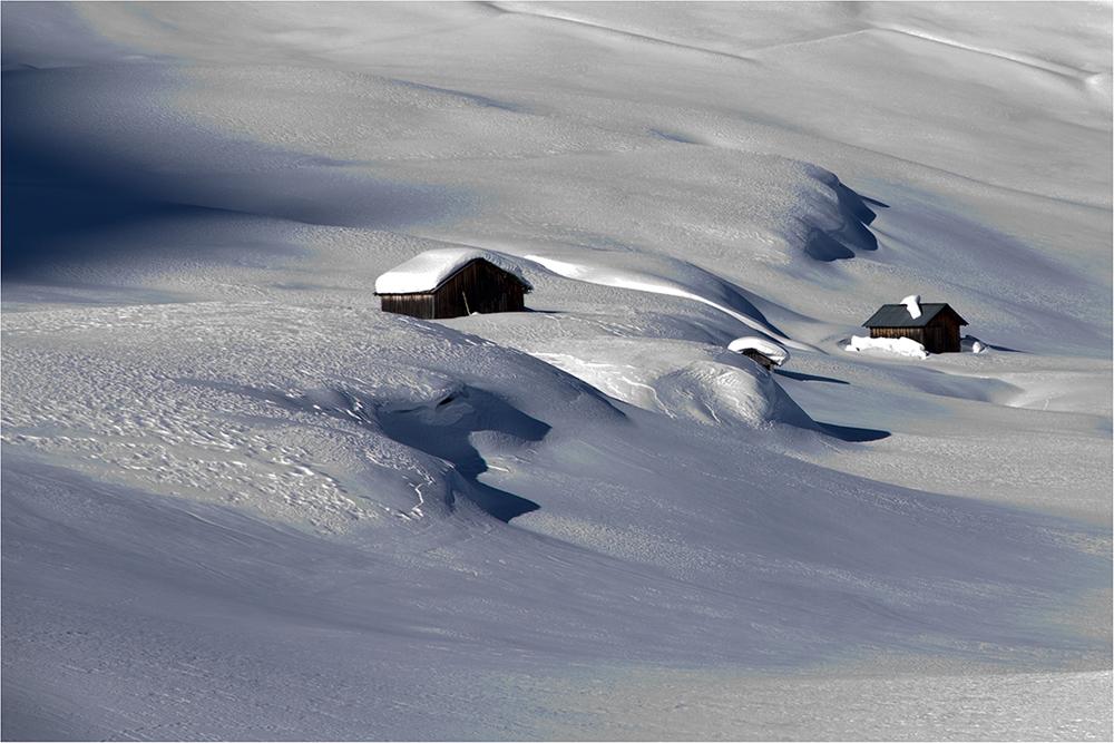 """Schnee """"Wellen"""""""