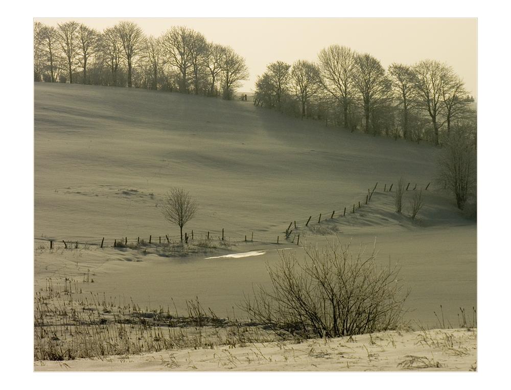 Schnee-Winter-Licht... - oder: Der Ton macht die Musik...