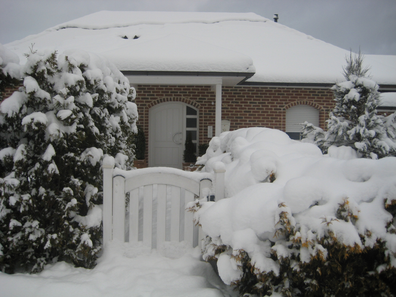 Schnee, wo man nur hinschaut !
