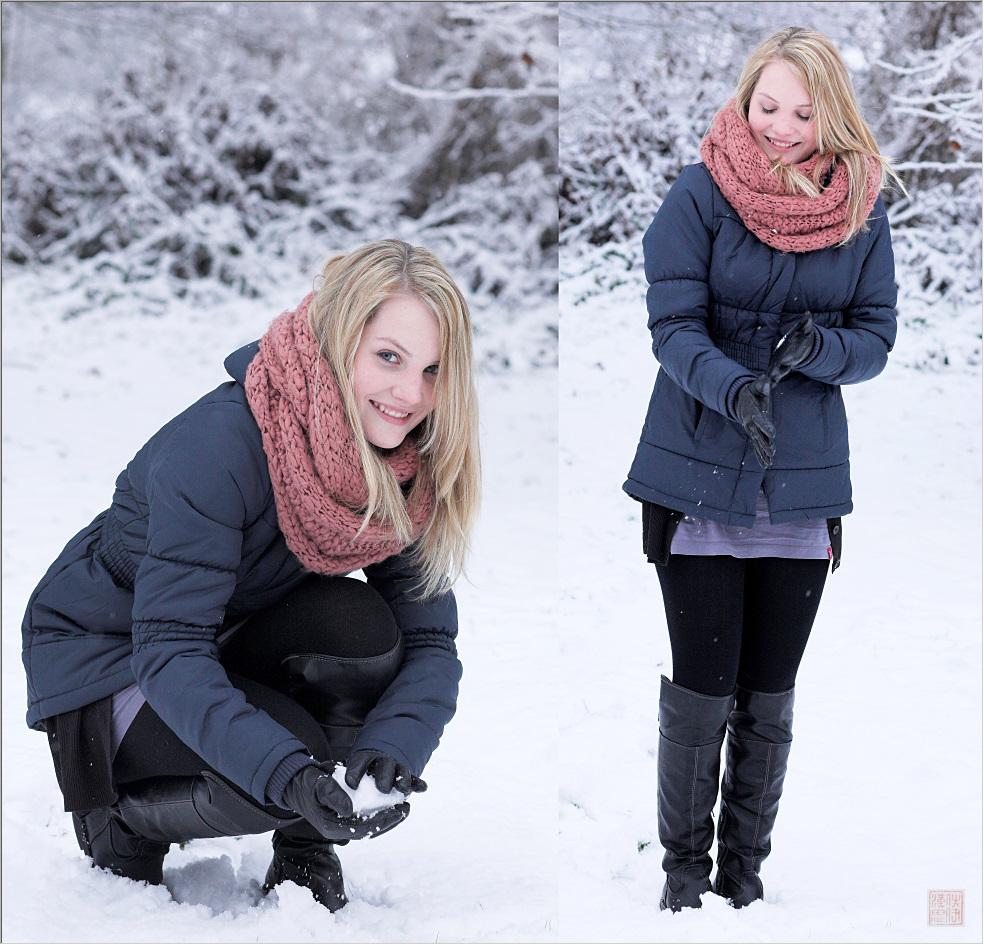 Schneeballwerfen
