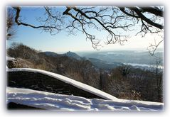 Schneebedecktes Siebengebirge