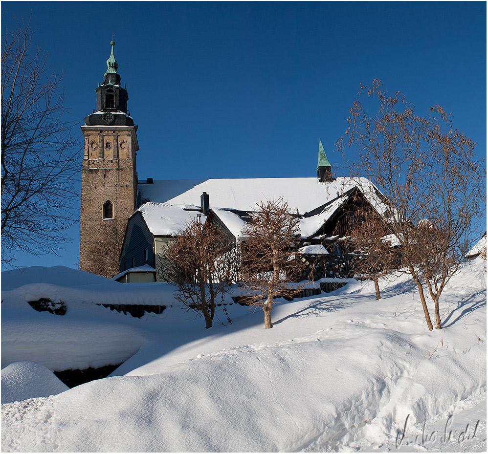 Schneeberg im Schnee