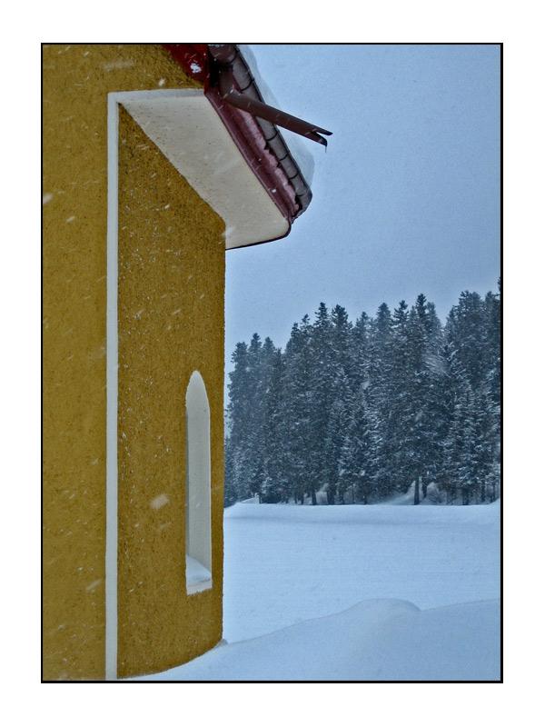 Schneefall...