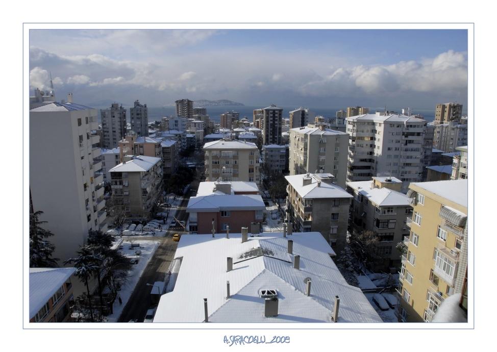 Schneefall in Istanbul