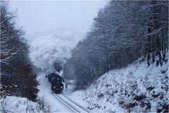 Schneegestöber vor der Wartburg