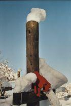 Schneehaube mit Handschuh