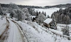 Schneelandschaft auf dem Plesch!