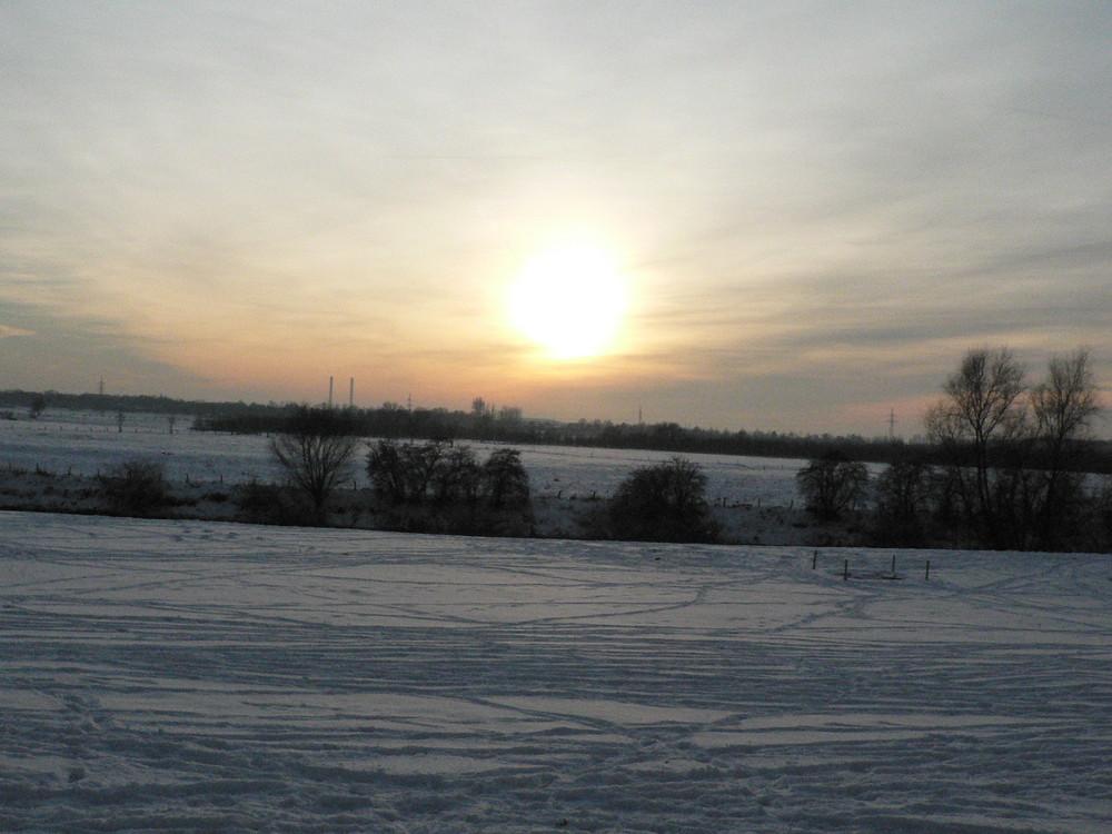 Schneelandschaft in Wesel!!!