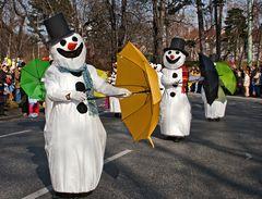 Schneemänner im Grazer Fasching!