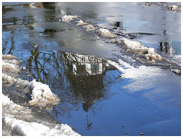 Schneematsch - Spiegelung