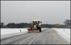 Schneepflug Traktor