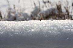 Schneeschicht seitlich aufgenommen - 10 cm