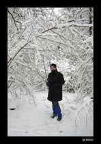 Schneewanderung am Altrhein.....