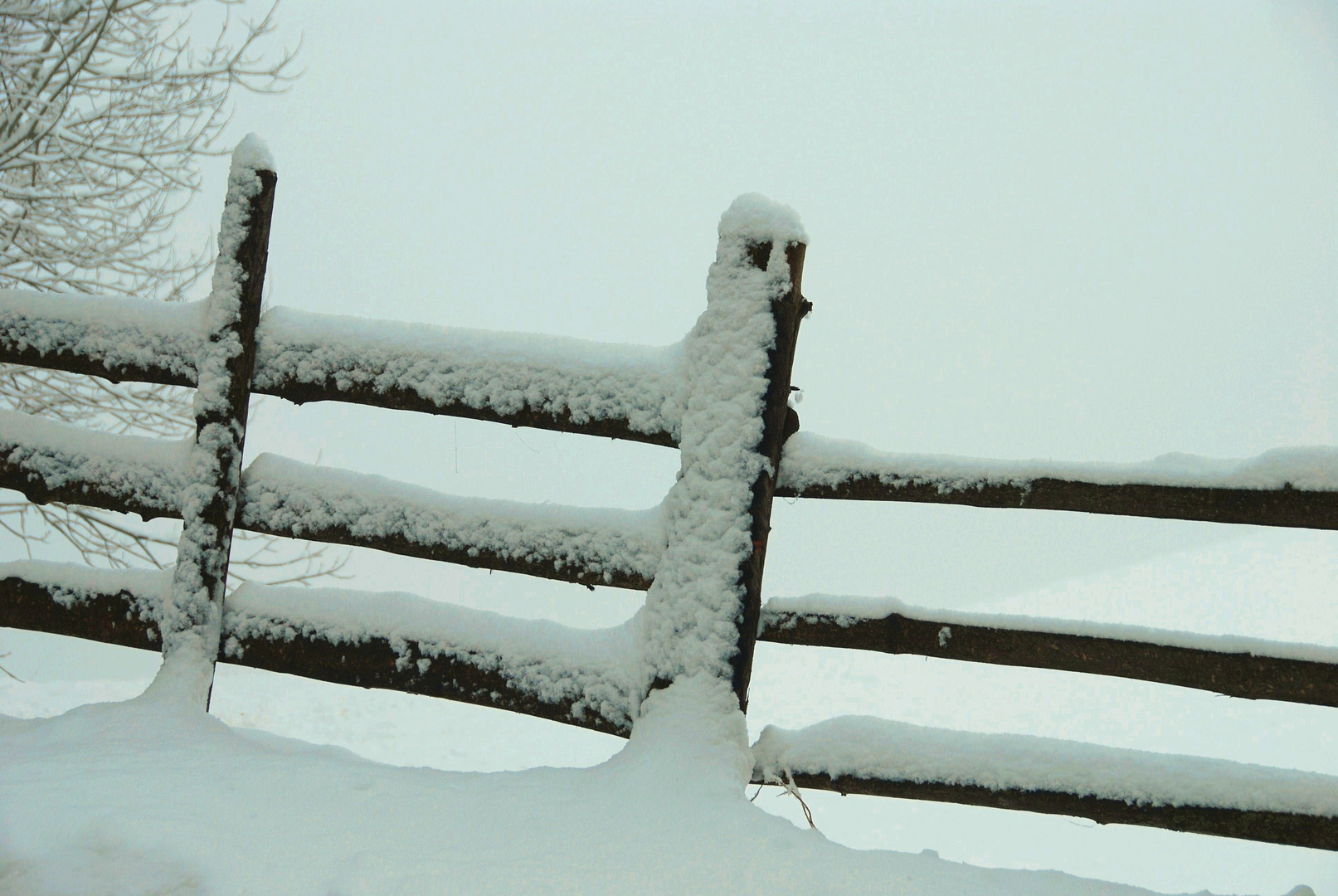 Schneewinterzaun