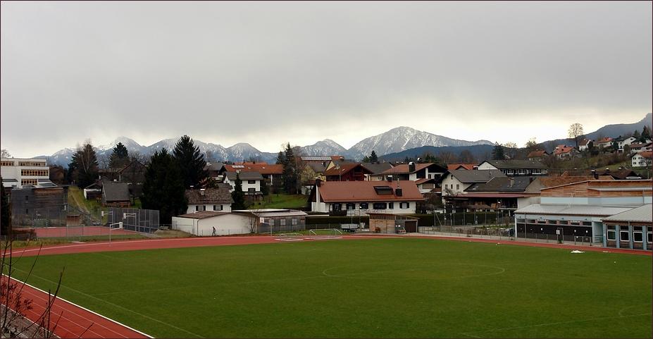 Schneewolken über unseren Bergen