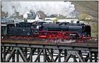 Schnellzug Dampflokomotive 01 118 überquert die Mosel