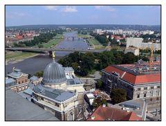 Schöne Aussicht auf Dresden