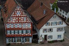 Schöne Fachwerkhäuser in Dornstetten (Links das Puppenmuseum)