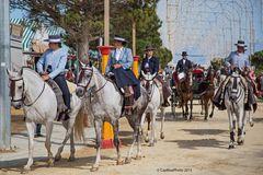 Schöne Reiterinnen und Reiter Feria Chiclana