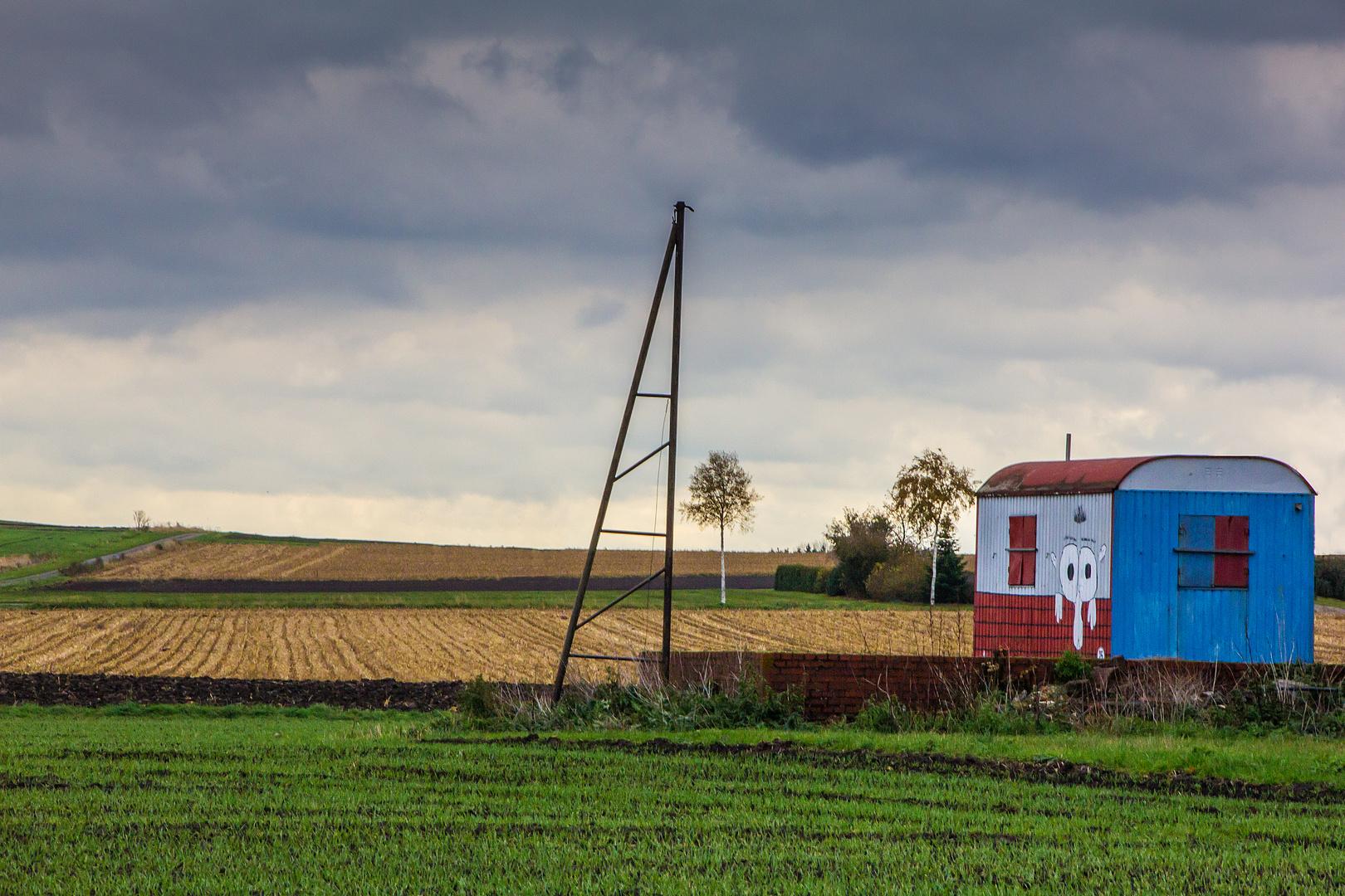 Schöner Wohnen Auf Dem Lande Foto Bild Landschaft äcker Felder