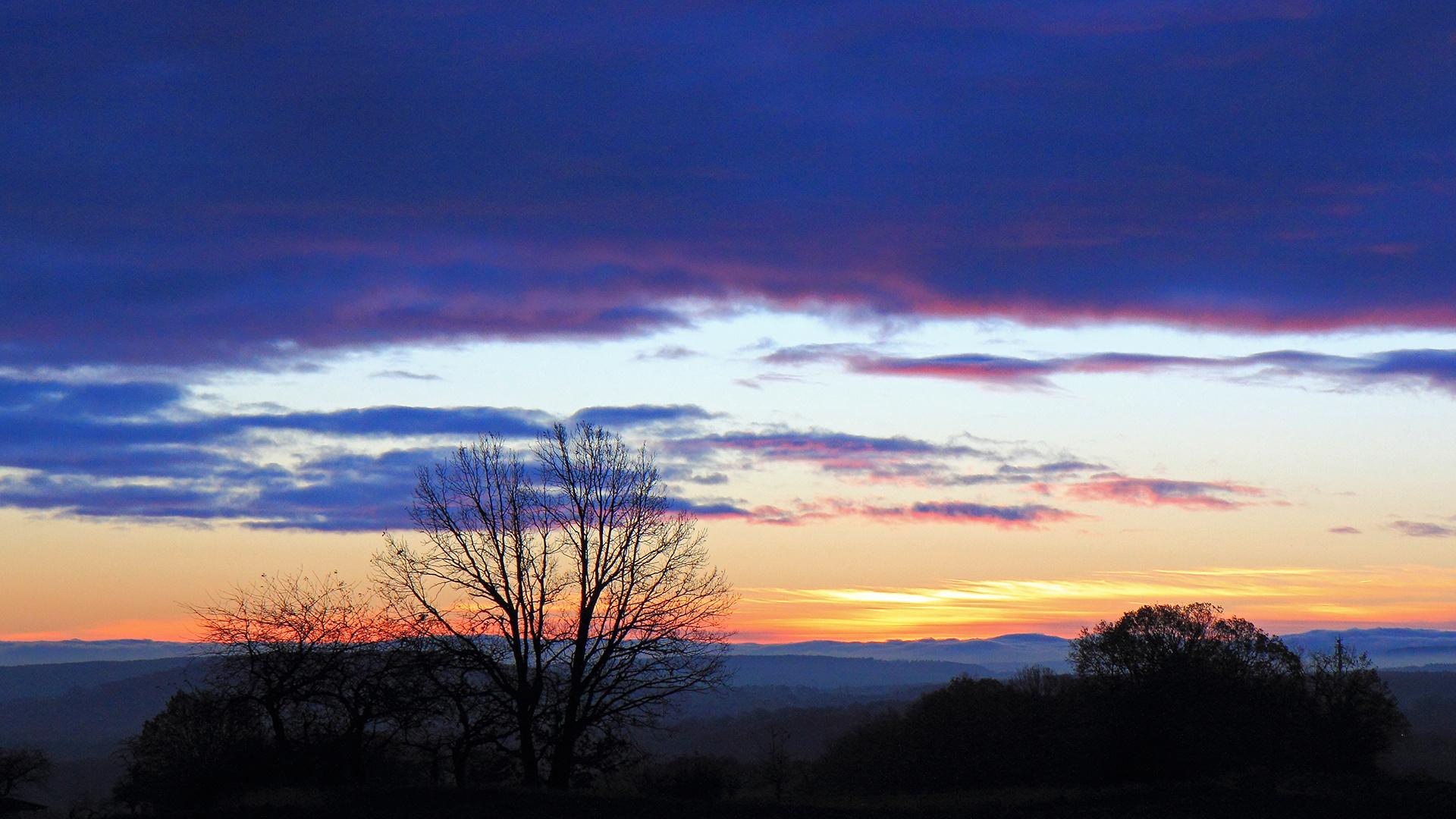 Schönes Morgenrot aufgenommen 200 Höhenmeter weiter oben...
