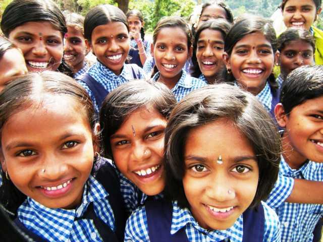 schönstes lächeln in Indien