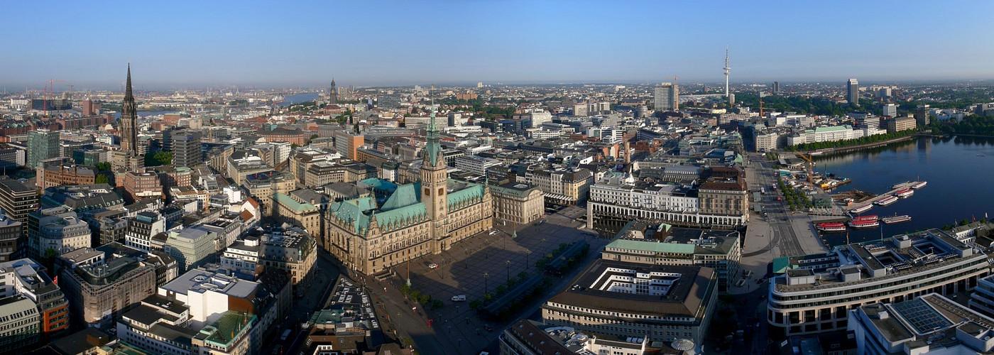 Schönwetter-Panorama Innenstadt