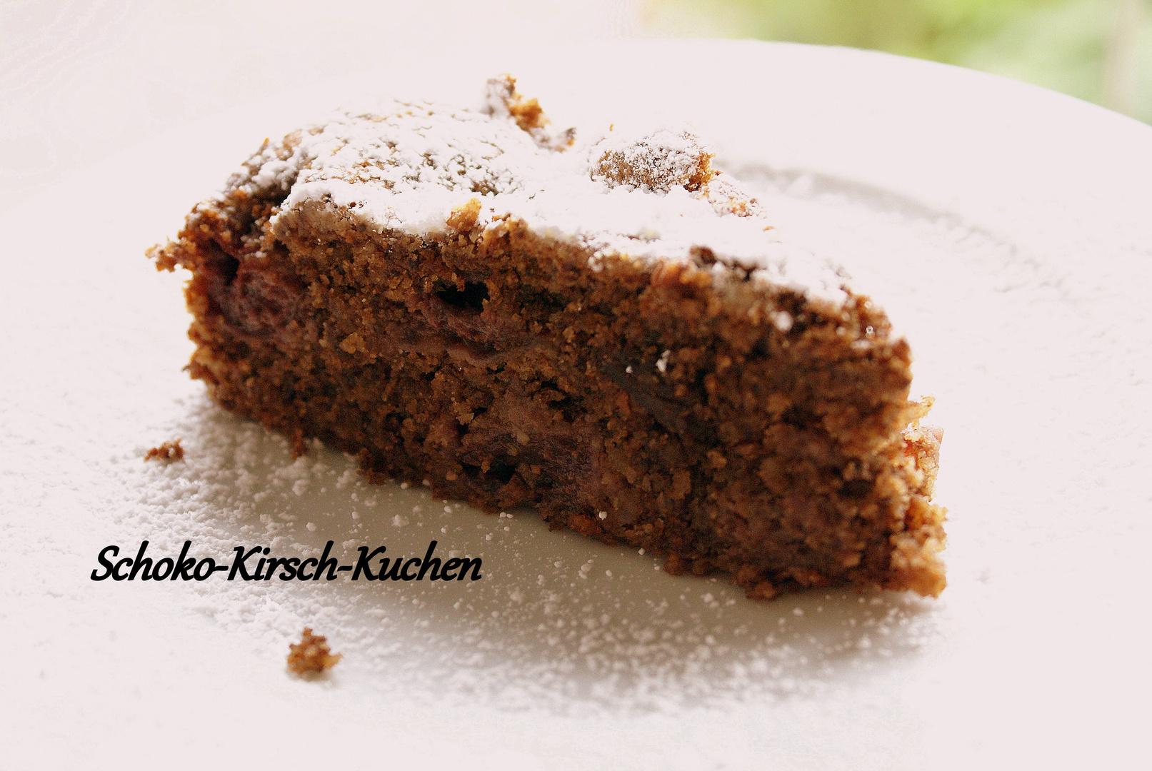 Schoko Kirsch Kuchen Foto Bild Stillleben Essen Trinken