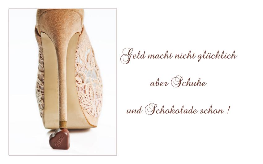 Schokolade und Schuhe