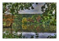 Schon Herbstfarben im Greizer Park