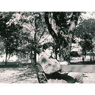 Schoolboy on a banch