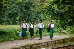 school's out, yangon, burma 2011