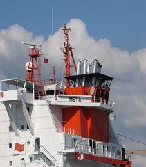 Schornstein der META - Containerschiff