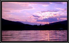 Schottischer Sonnenuntergang.