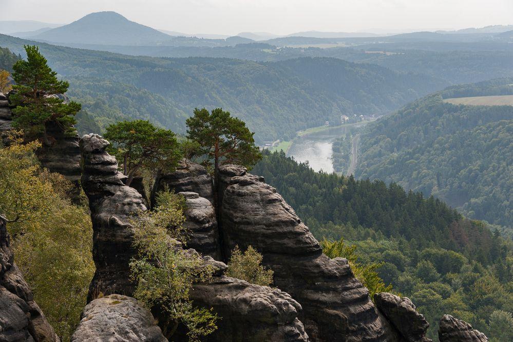 Schrammsteine und Elbtal