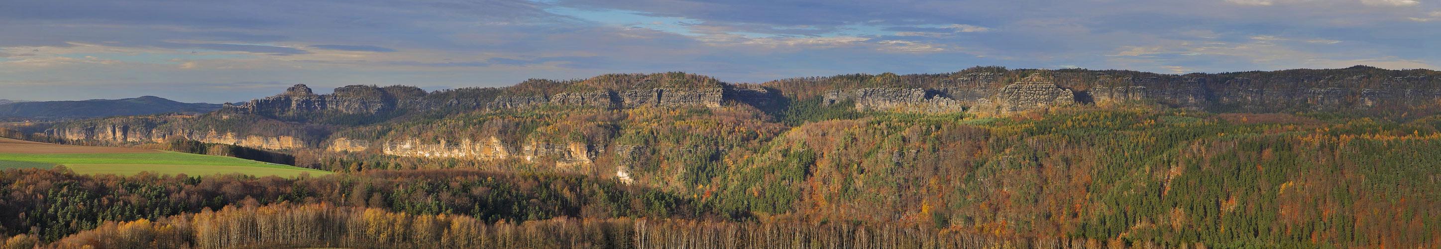 Schrammsteine von der Kaiserkrone aus ,Sächsische Schweiz
