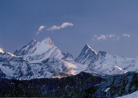 Schreckhorn (Berner Alpen, Schweiz) von der Schrattenfluh (Biosphärenreservat Entlebuch) aus gesehen