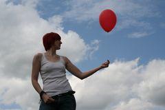 "schreib ""roter ballon"" rein oder sowas, is doch eh egal!"