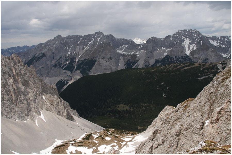 Schroffe Tiroler Bergwelt