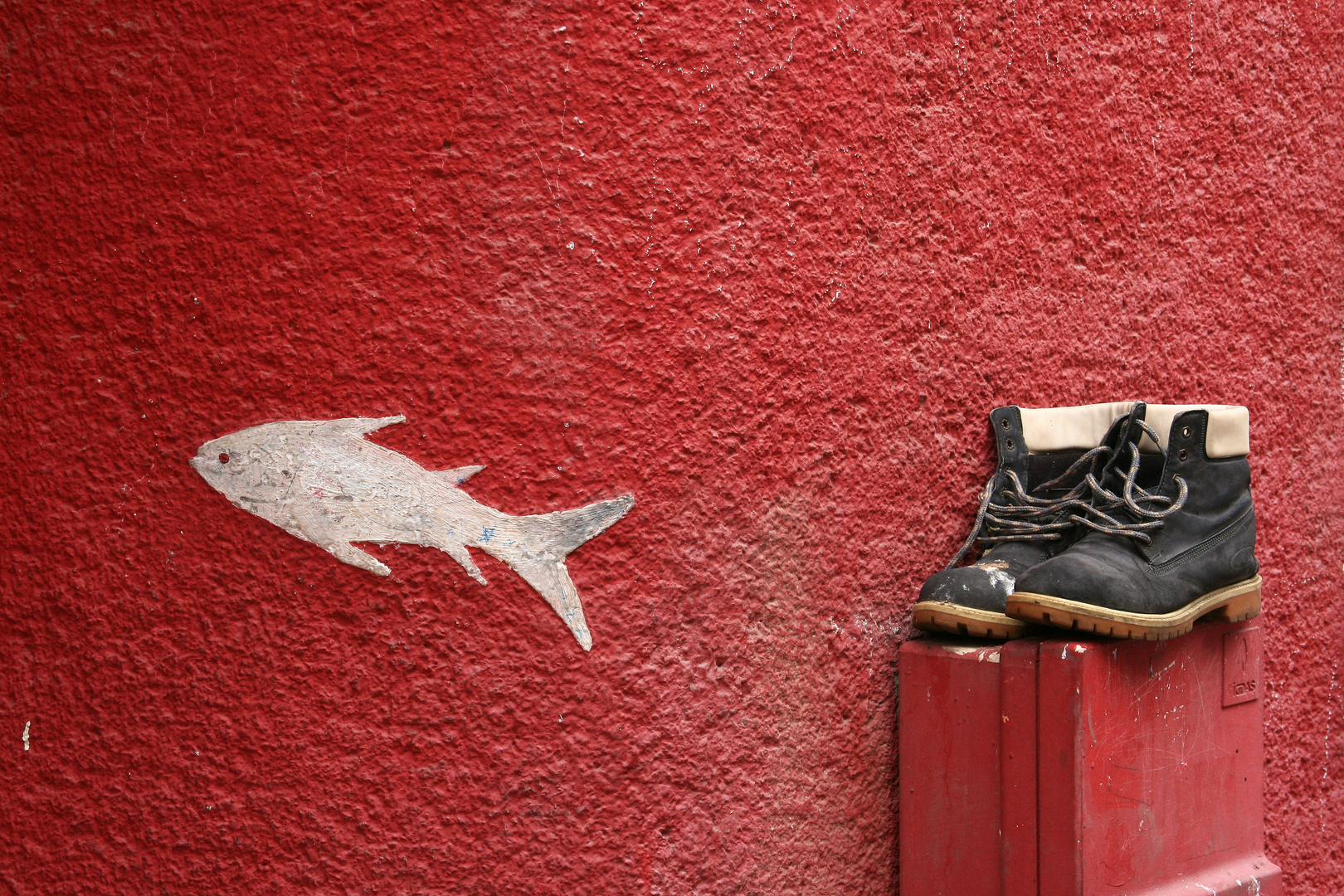 Schuhe mit Fisch in Istanbul