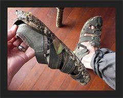 Schuhe zum Entsorgen