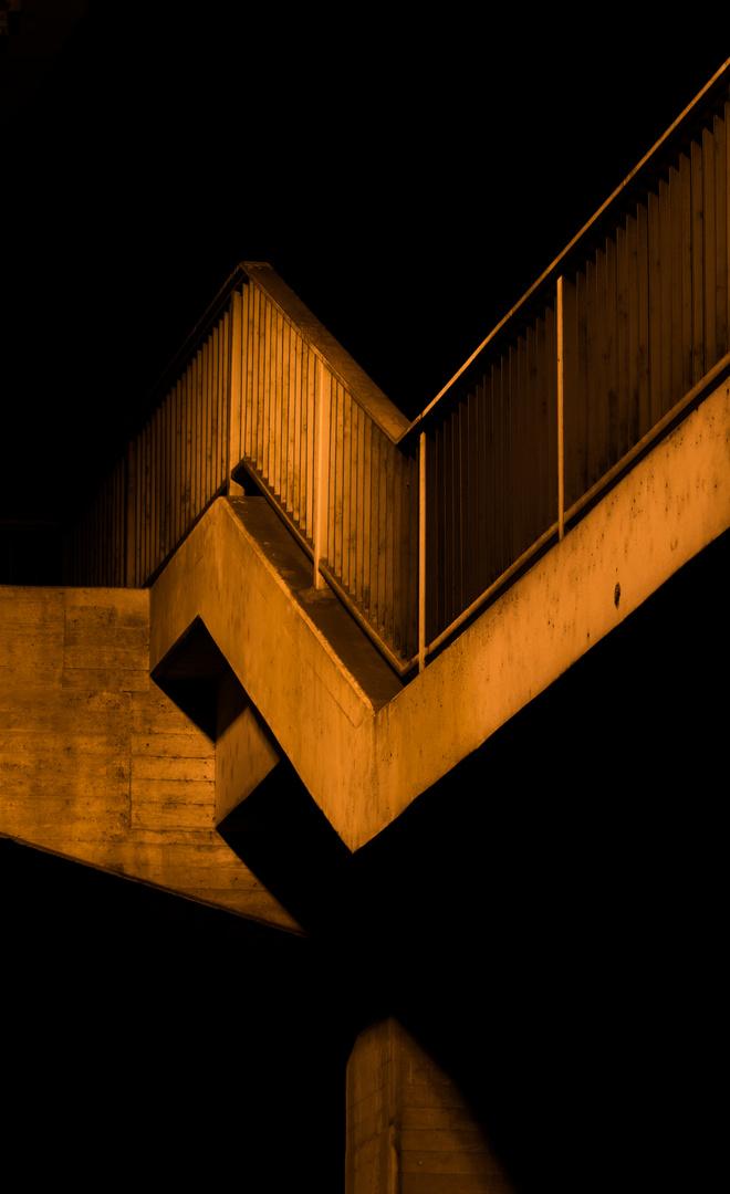 Schuhmacherbrücke bei Nacht