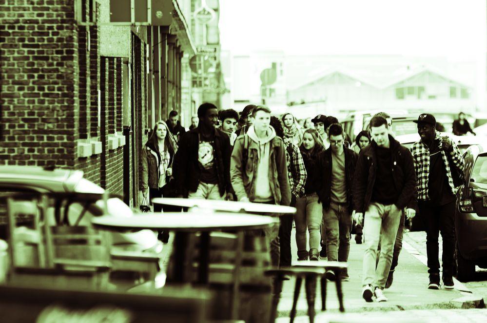 Schule ist aus in den Docklands